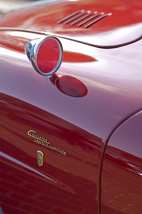 1961 Alfa Romeo Giulietta Sprint Speciale Emblem - Car photographs  by Jill Reger