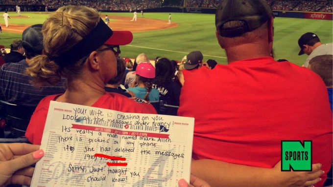 Be Brave/wo teenage girls ignore Braves game to allegedly tell a husband his wife is sexting another man.