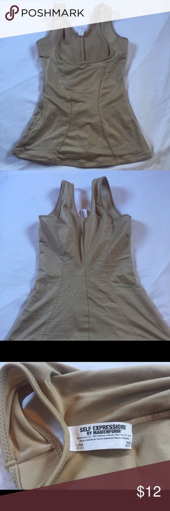 Maidenform Wear your own bra camisole shaper Large Very good used condition Self Expressions by Maidenform Size large camisole shaper Maidenform Intimates & Sleepwear Shapewear