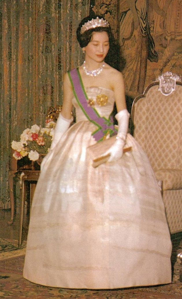 Michiko Shoda (later Empress Michiko), born 1934, was the first commoner to marry into the Japanese Imperial Family. She married Crown Prince Akihito (later Emperor Akihito) in 1959. http://royals-and-quotes.tumblr.com/post/66579001559/michiko-shoda-later-empress-michiko-born-1934