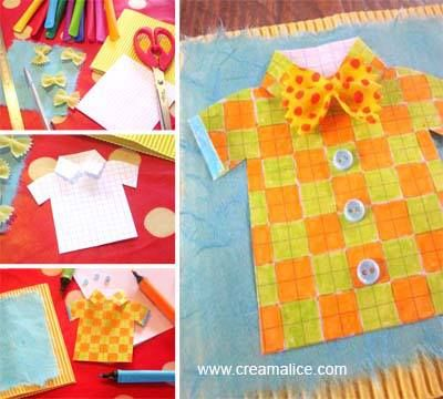 ✩✄ DIY Carte Chemisette Fête des Pères / DIY Father's Day Shirt Card ✄✩ http://www.creamalice.com/Coin_conseils/1-loisirs_creatifs_2013/6C-Tuto_Carte_Chemisette_Fete_des_Peres.htm/Tuto_DIY_Carte_Chemisette_Fete_des_Peres.htm