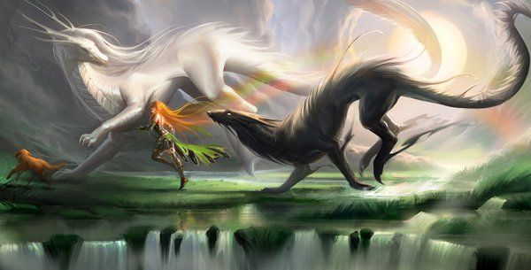 Running with spirits - 40 Mind Blowing Fantasy Creatures <3 <3