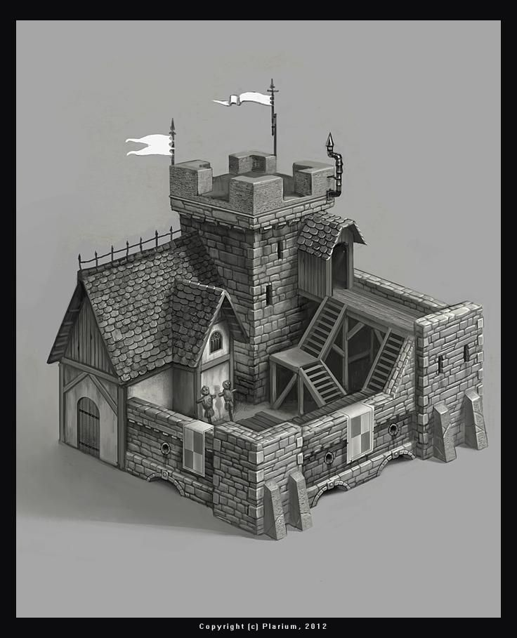 Really Cool Fortress Concept By Samarskiy. Great Looking