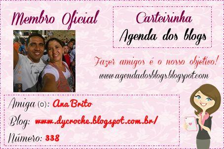 Nova carteirinha Agenda dos Blogs!