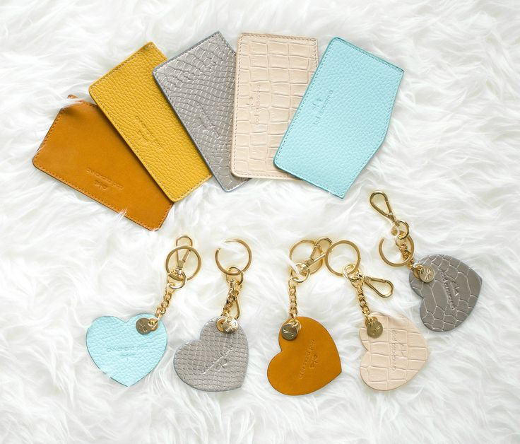 Leather cardholders and charms by Annamaria Pap