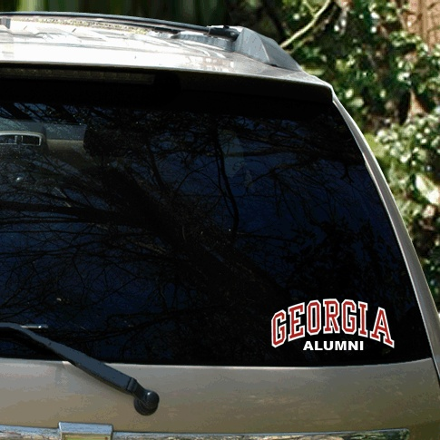 Uga arched georgia over alumni car decal