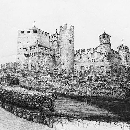 @Regrann from @fabiocuffari_thesecrets -  Le Château de Fénis - crayon 2B - more on http://ift.tt/2lG4Bqf #matita #pencil #drawing #blackandwhite #draw #paper #freehand #contemporaryart #castle #fenis #fabiocuffari - #regrann
