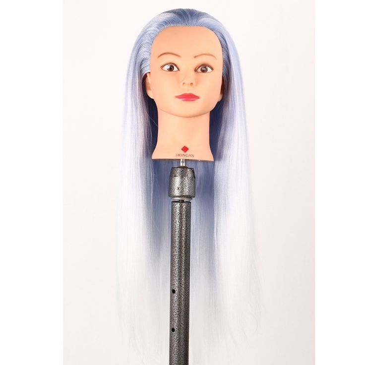 """==> [Free Shipping] Buy Best 28"""" Female Gradient Color Long Hair Hairdressing Training Head Dummy Model Mannequin Cut  Clamp High Quality Mannequin Head Online with LOWEST Price 