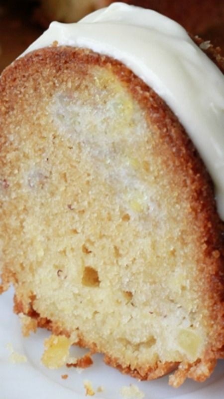 Banana Pineapple Pound Cake Recipe ~ so delicious!  It's perfect for dessert and works great for a quick breakfast, too!