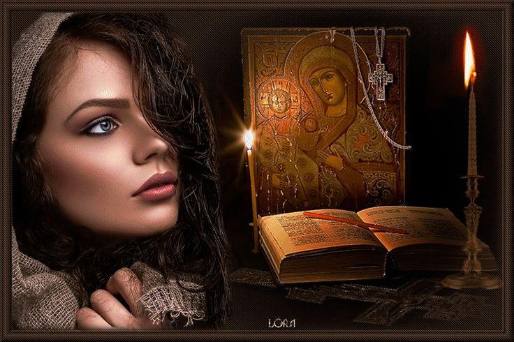 κορίτσι κινούμενα σχέδια με μακριά σκούρα μαλλιά με φόντο ένα ανοιχτό βιβλίο, εικόνες και κεριά, από Lora, SIFCO κοπέλα με μακριά σκούρα μαλλιά σε ένα πλαίσιο ενός ανοικτού βιβλίου, εικόνες και κεριά, από Lora