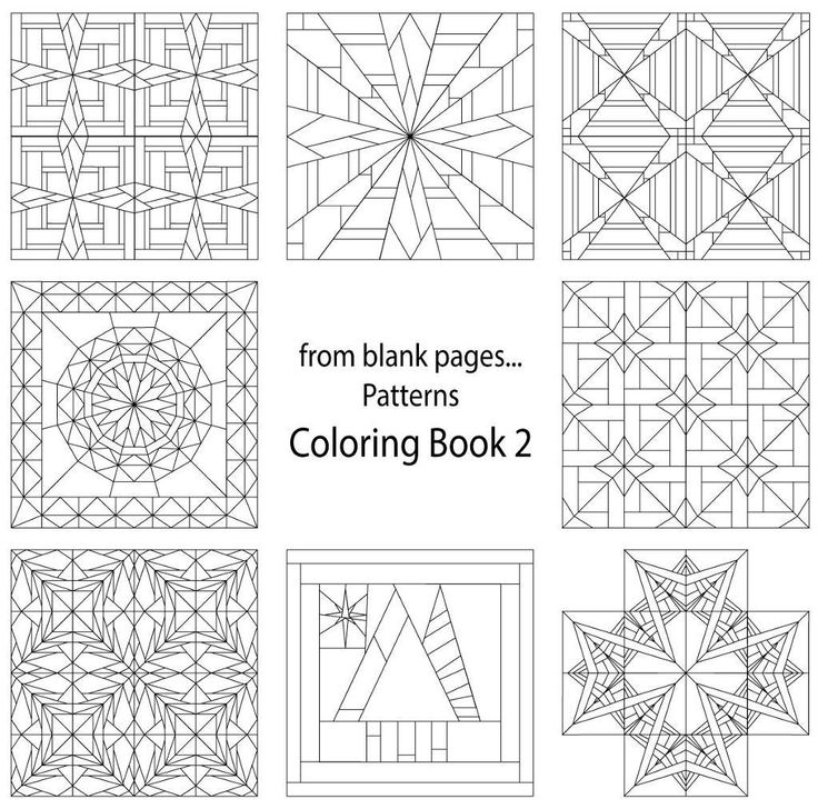 (7) Name: 'Quilting : from blank pages Pattern Coloring