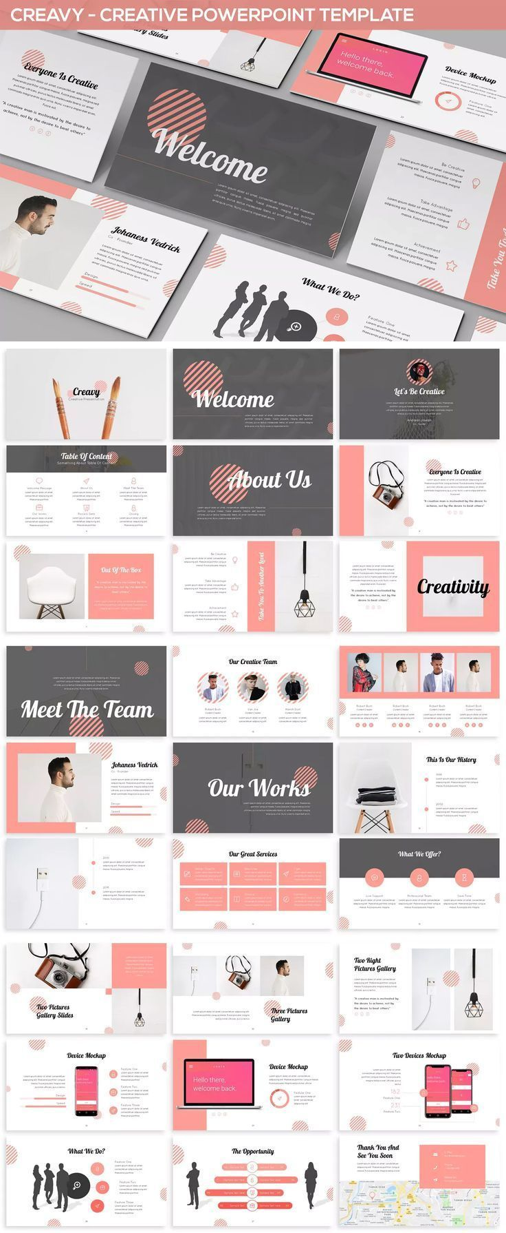 Powerpoint Template For Creative Presentation Ideas Creative Powerpoint Presentations Presentation Topics Creative Presentation Ideas