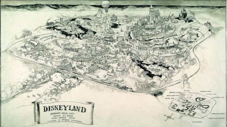 Inédito: revelan el boceto original de Disneylandia | Disney, Walt Disney - América