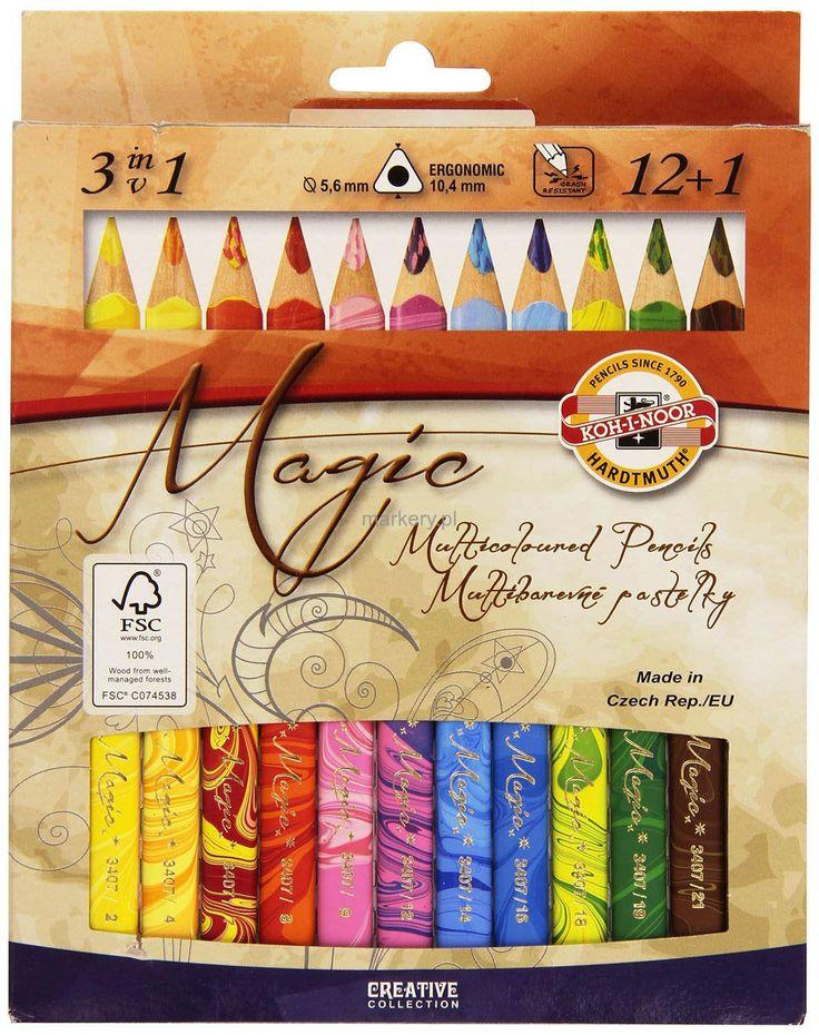 Kredki Magiczne Magic Trio 12kol + Blender-92401