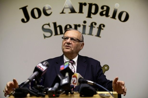 The Arizona sheriff is in trouble again, just in time for a new run for governor—this time for getting caught on videotape disrespecting a federal court order that highlighted his longstanding discriminatory police practices.