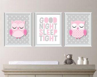 Baby Girl Nursery Art. Girl Nursery Decor. by RhondavousDesigns2
