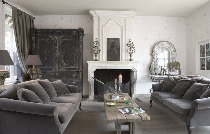 Couches........Classic Style: French Black Shabby Chic