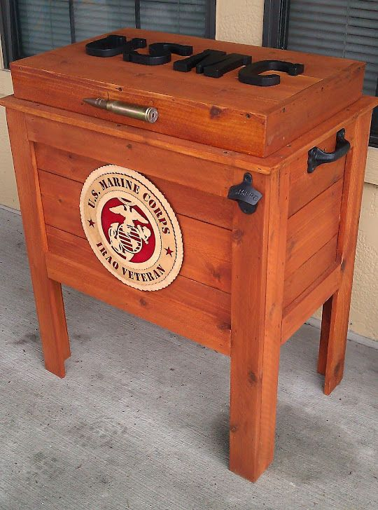 Marine Corps Cooler-check out this website it can custom make any designs super cute for the patio