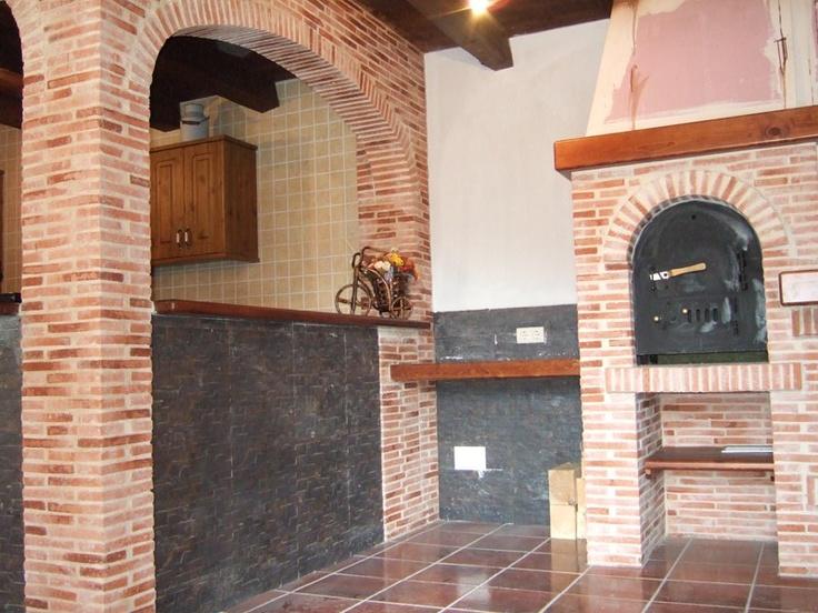 Detalle ladrillo r stico arcos yesca bodegas pinterest for Arcos de ladrillo rustico