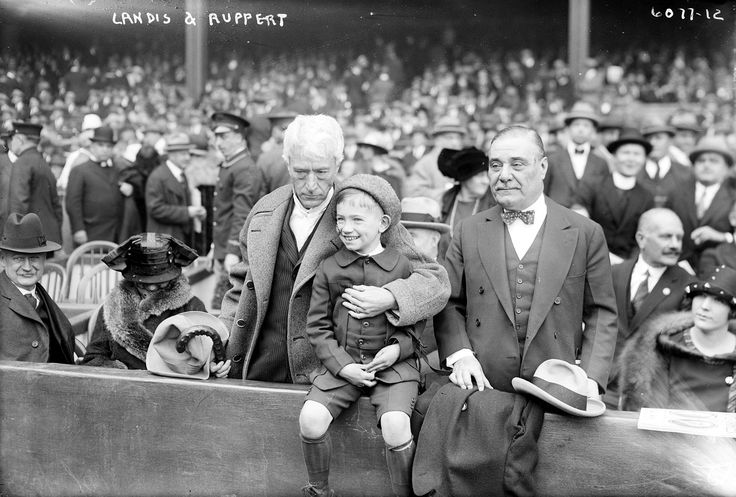 Landis and Ruppert - Kenesaw Mountain Landis - Wikipedia, the free encyclopedia Landis with New York Yankees owner Jacob Ruppert (standing), 1923.