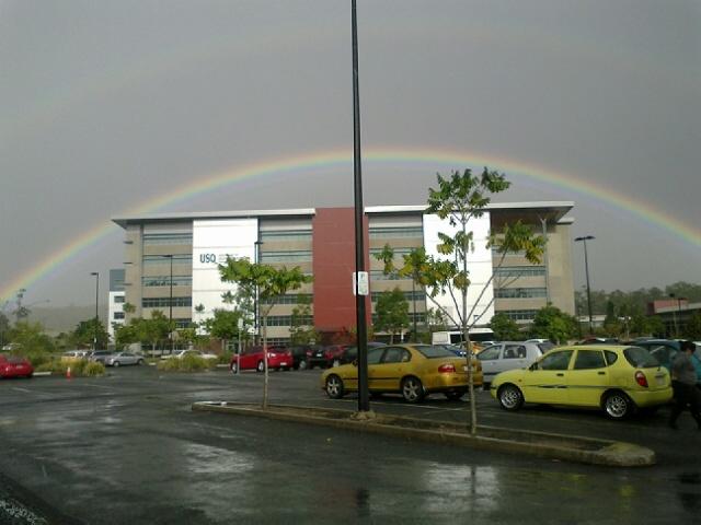There is definitely a pot of gold under this rainbow at USQ Springfield! #usq #usqspringfield