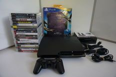 Playstation 3 Slim Console 120GB + 19 games, Destiny, Uncharted, Dragon Age, The Evil Within etc + Accessory