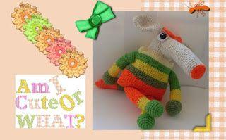 Funmigurumi Stripers: Sniffy the Anteater Girl FREE Pattern #crochetamigurumi #funmigurumianteaterpattern #freecrochetamigurumianteater