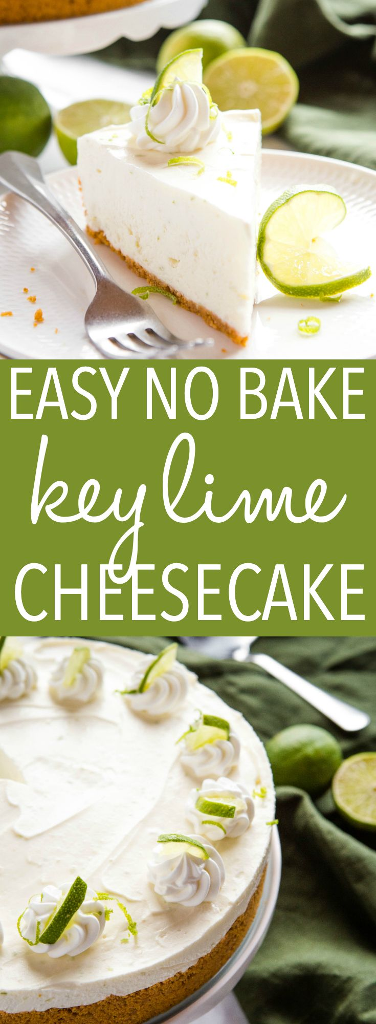 Easy No Bake Key Lime Cheesecake Recipe Desserts Lime Cheesecake Delicious Desserts