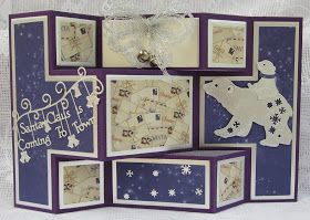 Tattered Lace Dies: Polar Bear shutter card by Brenda