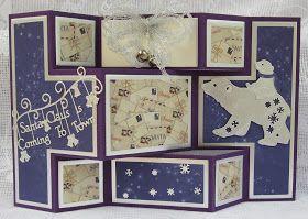 Tattered Lace Dies: Polar Bear shutter card by Brenda