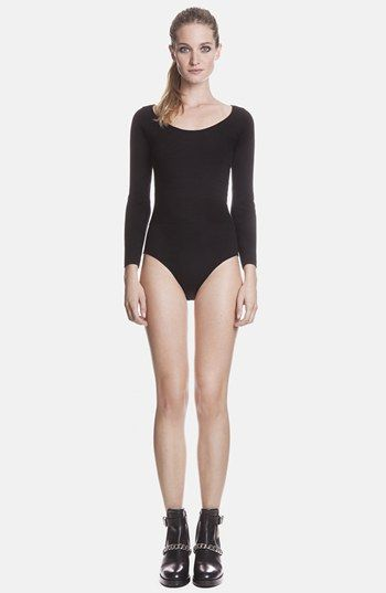 sandro 'Swann' Braided Back Cutout Knit Bodysuit available at # ...