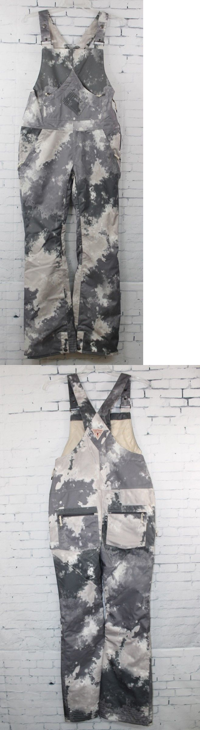 Snow Pants and Bibs 36261: New 2016 Airblaster Womens Hot Overall Ski Snowboard Bib Pants Med Storm Cloud -> BUY IT NOW ONLY: $179.96 on eBay!
