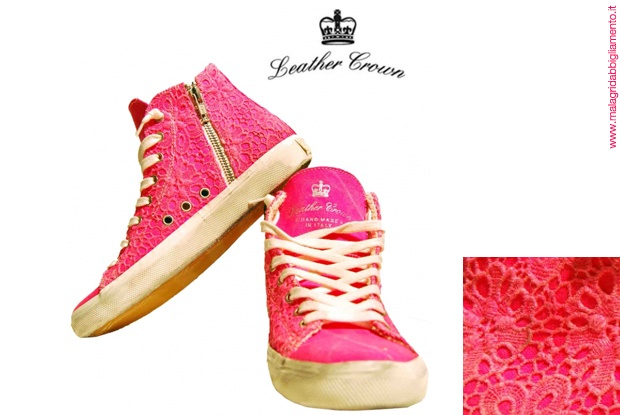 #Leather Crown #pink #shoes  www.malagridabbigliamento.it