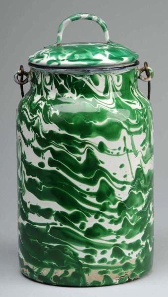 graniteware in green