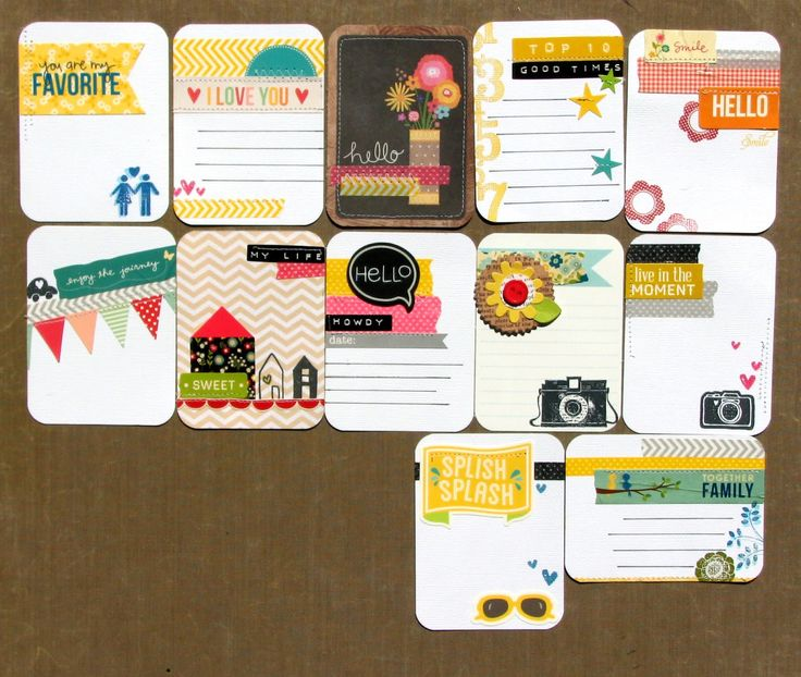 project life diy cards