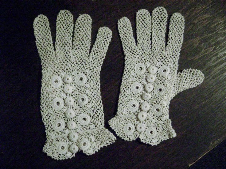 140 besten Vintage Crochet gloves Bilder auf Pinterest   Handschuhe ...