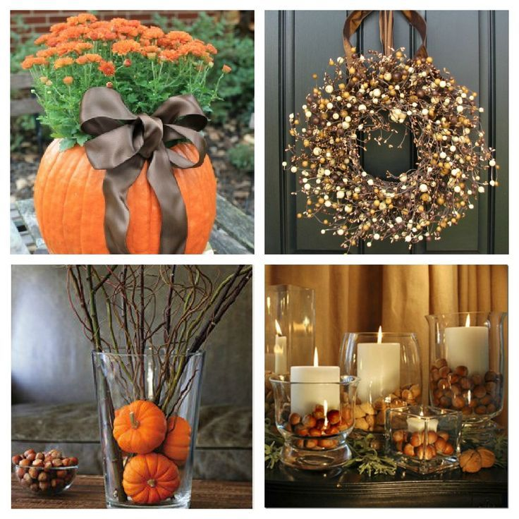 Fall Decor. I'm hosting thanksgiving this year, and some of these will def come in handy!