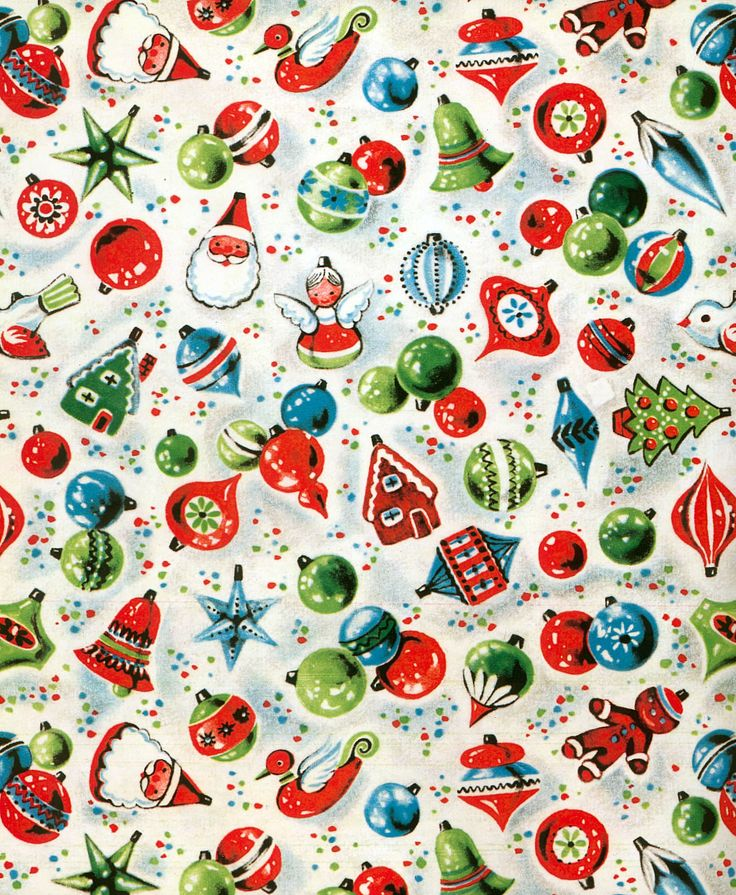 vintage Christmas wrapping paper                              …                                                                                                                                                                                 Más