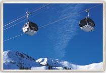 Skiing at Mammoth Mountain, California