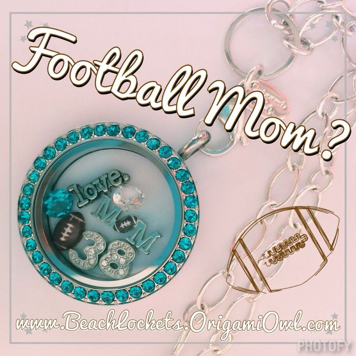 Origami Owl Football Mom Locket. Support your favorite team and player!  Available at www.BeachLockets.OrigamiOwl.com  Facebook me at Facebook.com/BeachlocketsbyCristinaE for more info!