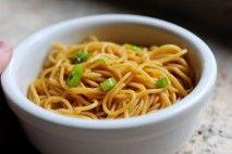 Pioneer Woman's simple sesame noodles.  So good!