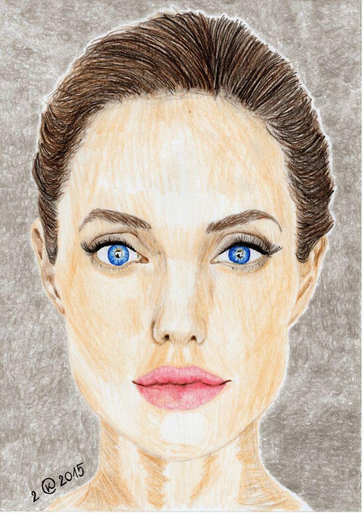 Kasia Oetelaar Art: PORTRAIT: Angelina Jolie
