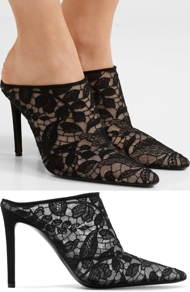 Altuzarra's 'Davidson' pair has been made in Italy from delicate guipure lace. They're set on a slim 110mm stiletto heel and have a sleek pointed toe