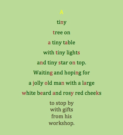 Poem about a tiny Christmas tree | Classroom Ideas ...