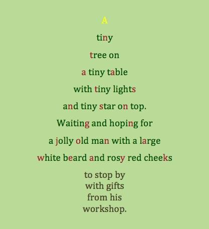 Alfa img - Showing > Little Christmas Tree Poem