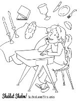 shabbat in the playroom coloring pages shiras series