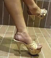 Image result for nylon feet wooden mule