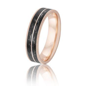 Black Spectrum Ring from Peter W Beck. #PeterWBeck #AustralianMade #Australia #WeddingRing #Wedding #Ring #RoseGold #PinkGold #Gold #Spectrum