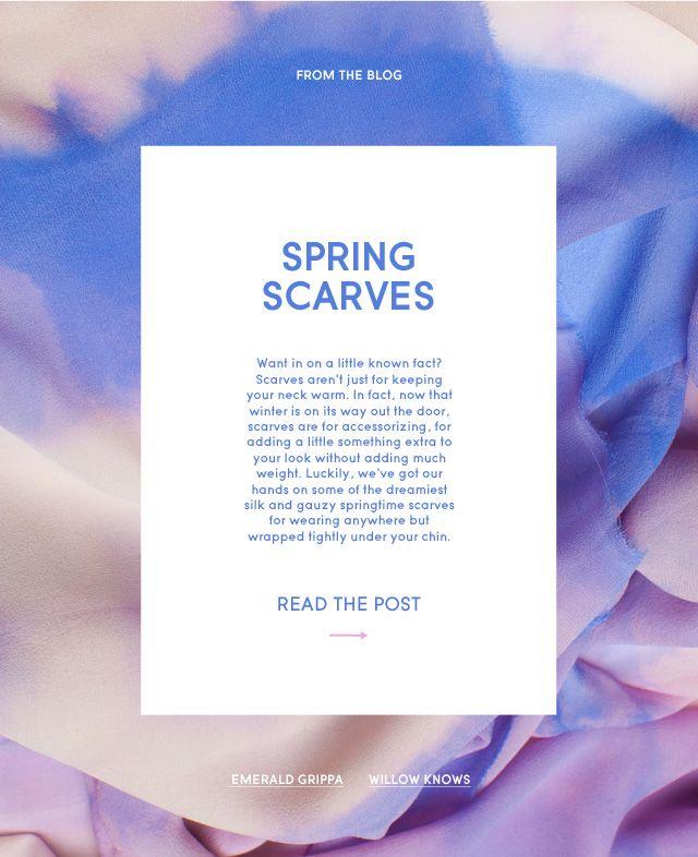 Spring Scarves HTML Email