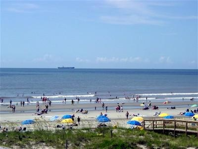 """Isle of Palms Beach. The """"tourist"""" beach. It is beautiful but I spend most of my time on Folly and if I don't go there, I go to Sullivan's Island."""